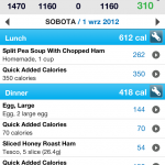 MyFitnessPal spis co jadłem