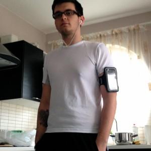 Bieganie + opaska na ramię iPhone